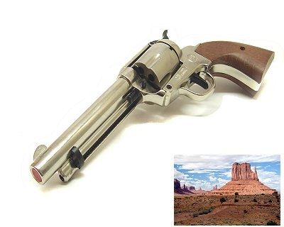 Revolver Bruni a salve Far west I inox per uso cinema western Top Firing